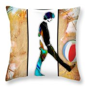 Walking Out Of Picture Frame Throw Pillow