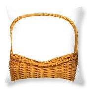 Wicker Basket Number Seven Throw Pillow