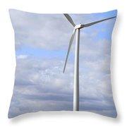 Wind Powered Electric Turbine Throw Pillow