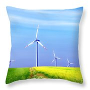 Wind Turbines Throw Pillow
