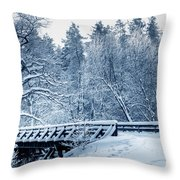 Winter White Forest Throw Pillow