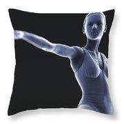 Yoga Warrior II Pose Throw Pillow