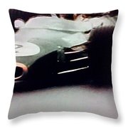 60's Era Formula 1 Race Throw Pillow
