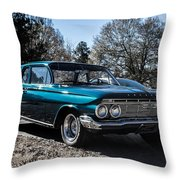 61 Chevrolet Biscayne Throw Pillow