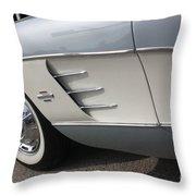 61 Corvette-grey-sidepanel-9241 Throw Pillow