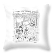 New Yorker April 16th, 2007 Throw Pillow