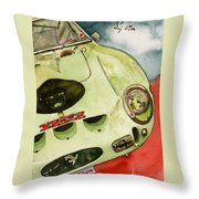 62 Ferrari 250 Gto Signed By Sir Stirling Moss Throw Pillow