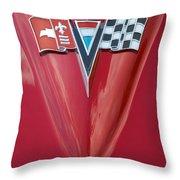 63 Corvette Emblem Throw Pillow