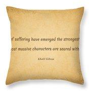 63- Khalil Gibran Throw Pillow