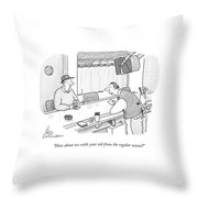 How About We Settle Your Tab From The Regular Throw Pillow