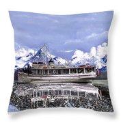 Alaska Yachting Throw Pillow