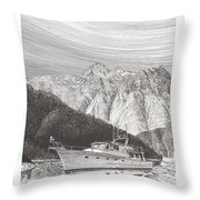 Desolation Sound Quiet Anchorage     Throw Pillow