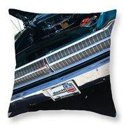 65 Plymouth Satellite Grill-8481 Throw Pillow