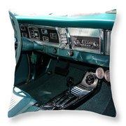 65 Plymouth Satellite Interior-8499 Throw Pillow