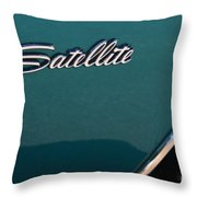 65 Plymouth Satellite Logo-8503 Throw Pillow