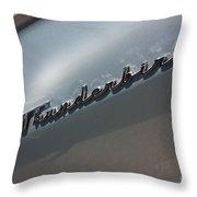 65 T-bird Emblem-7876 Throw Pillow