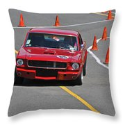 66 Ford Mustang Throw Pillow