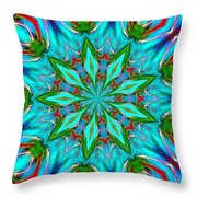 Aquaday Throw Pillow
