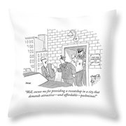 Well, Excuse Me For Providing A Sweatshop Throw Pillow