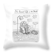 The Easiest Life In The World Throw Pillow