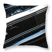 67 Black Camaro Ss Grill-8039-2 Throw Pillow