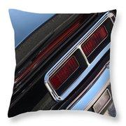 67 Black Camaro Ss Tail Light-8020 Throw Pillow