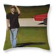 67 Ford Galaxie Throw Pillow
