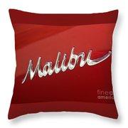 67 Malibu Chevelle Logo -0058 Throw Pillow