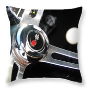 67 Malibu Chevelle Steering Wheel-0055 Throw Pillow