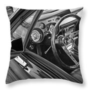 67 Mustang Interior Throw Pillow
