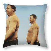 Obesity Throw Pillow