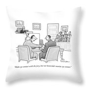 Make Eye Contact With The Jury Throw Pillow