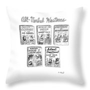 All-verbal Westerns Throw Pillow
