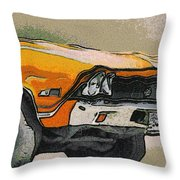 68 Chevelle Abstract Throw Pillow