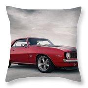 69 Camaro Throw Pillow