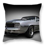 '69 Camaro Ss Throw Pillow