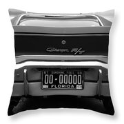 69 Charger Rt Throw Pillow