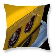 '69 Corvette Tail Lights Throw Pillow