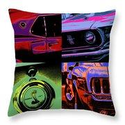 '69 Mustang Throw Pillow