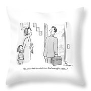 It's Almost Back-to-school Time. Steal Some Throw Pillow