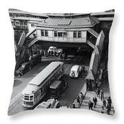 6th Avenue And 42nd Street Throw Pillow
