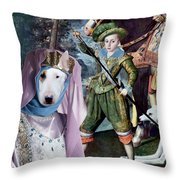Bull Terrier Art Canvas Print Throw Pillow