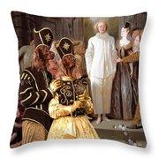 Irish Setter Art Canvas Print Throw Pillow