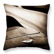 1959 Aston Martin Db4 Gt Hood Emblem Throw Pillow