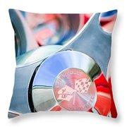 1960 Chevrolet Corvette Steering Wheel Emblem Throw Pillow