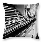 1961 Pontiac Catalina Grille Emblem Throw Pillow