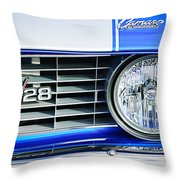 1969 Chevrolet Camaro Z-28 Grille Emblem Throw Pillow