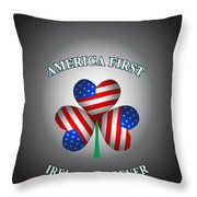 America First Ireland Forever Throw Pillow