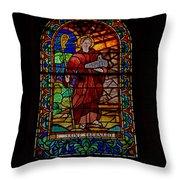 Ancient Spanish Monastery Throw Pillow