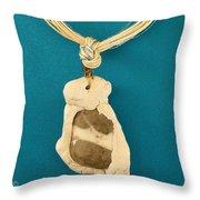Aphrodite Anadyomene Necklace Throw Pillow by Augusta Stylianou